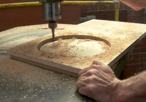 Using A Router In The Closet Manufacturing Facility in Sarasota